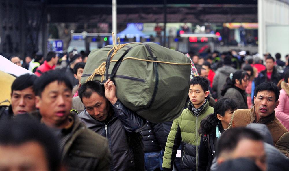 广州火车站,春运第三天