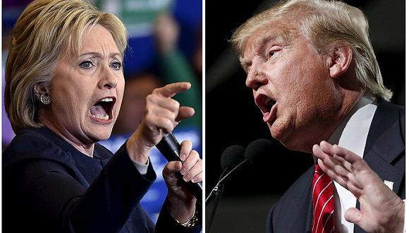 特朗普vs希拉里