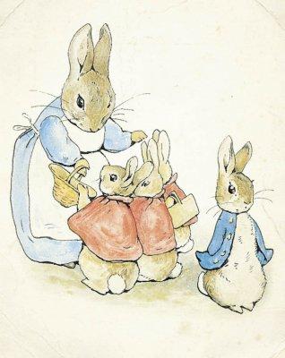 她还让笔下的动物们穿上了各种有趣的服装:比得兔穿