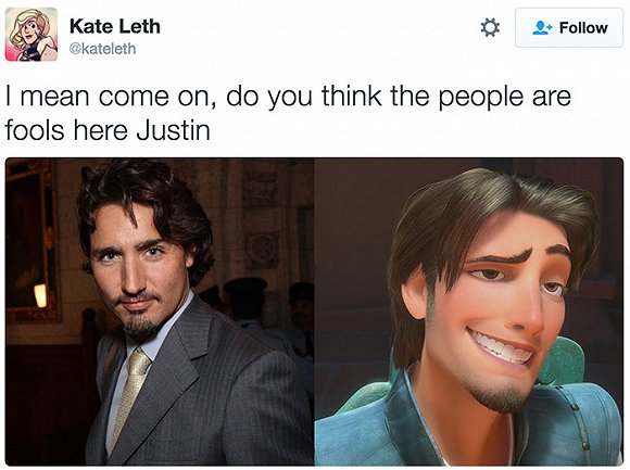 人王子.   加拿大总理贾斯汀   否则你怎么解释这个.