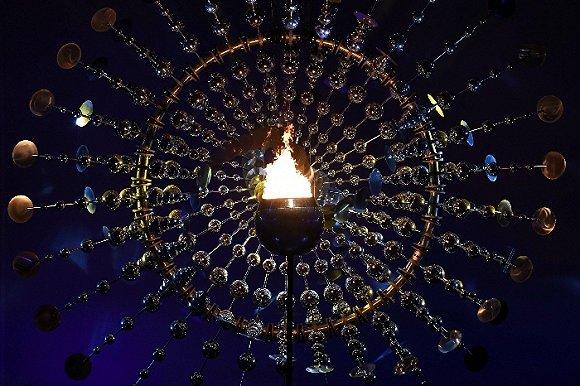 里约奥运会正式揭幕 绿色五环点火仪式别出心裁图片