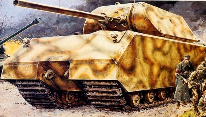 """纳粹德军""""傻大笨粗""""的鼠式巨型坦克"""