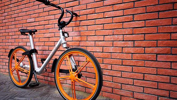 """摩拜单车在测""""小蓝车"""",原来长这样图片"""