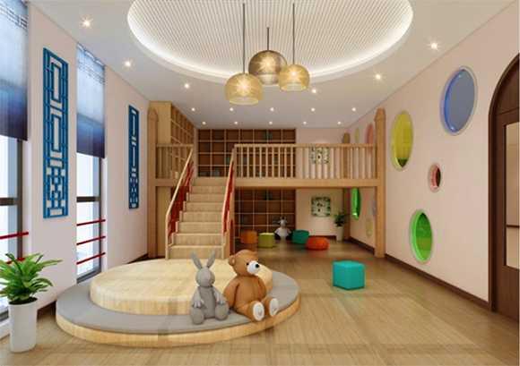 京东幼儿园室外活动区-图书室效果图