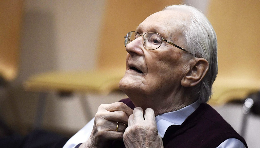 96歲前奧斯維辛集中營會計去世 被判四年監禁未曾服刑