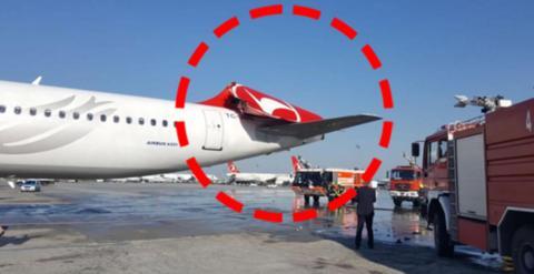 韩国载222人客机起飞时撞上土耳其客机 后者起火