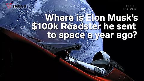 埃隆·马斯克一年前寄往太空的跑车去哪了?