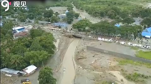 印尼洪灾形成至少60余人逝世伤