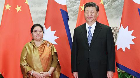 习近平举行仪?#20132;?#36814;尼泊尔总统访华并同其举行会谈