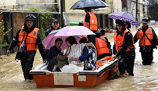 【图集】南方多地遭遇强降雨天气,部分地区严重内涝