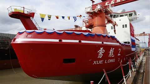 中国首艘双向科考破冰船正式交付,年底有望首航南极