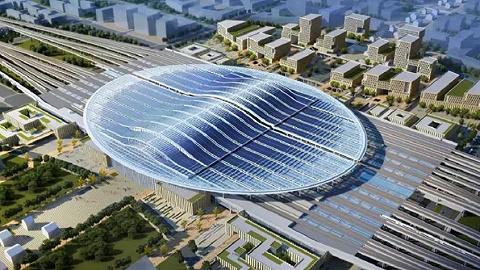 京雄城际铁路雄安站转入地上施工阶段,预计明年底投入使用