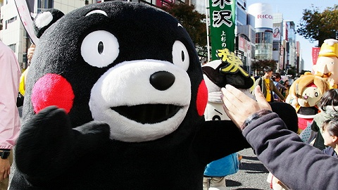 為了防止疫情擴散,熊本熊暫時停止握手和擁抱營業