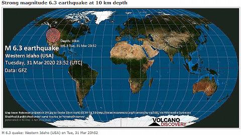 美国爱达荷州发生6.6级地震,整个地区都有震感