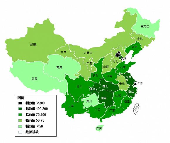 图2018年全国科学传播发展指数地图图片