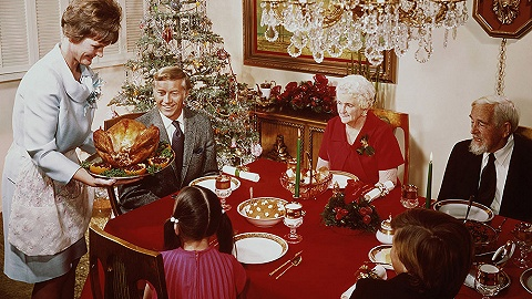 【图集】老照片里的圣诞大餐