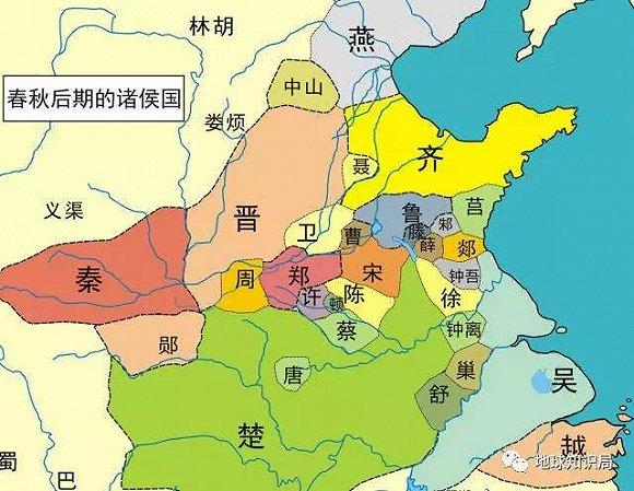 中国古代湖北区域的地理分布图