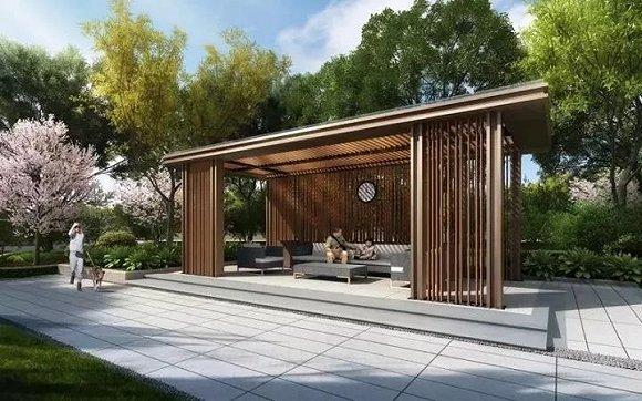 比如很多项目都设置了景观户外客厅,在这个公共空间的会客厅里,还有