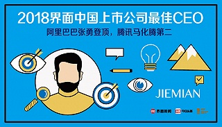 2018界面中国上市公司最佳CEO榜单发布:阿里巴巴张勇获第一,腾讯马化腾第二
