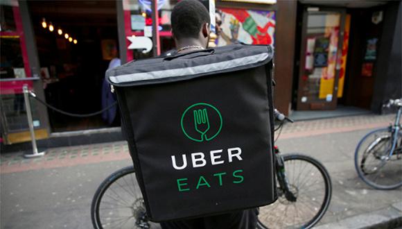 "Uber Eats送餐员伦敦拦路罢工 抗议""赚钱太少"""