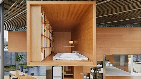 长谷川豪借鉴中国传统居住方式,为MUJI员工打造共享住宅空间