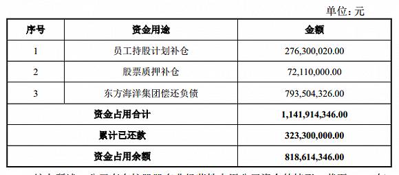 控股股东8.19亿占款一个月内没还清,东方海洋要被ST了