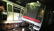 香港地铁测试新信号系统期间,发生两车相撞