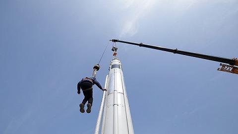 中国民营火箭完成第三次火箭回收试验,高度300米