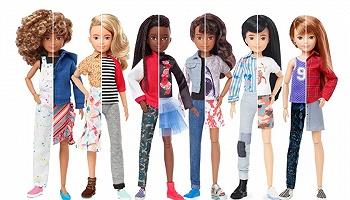"""這款新的芭比娃娃,試圖""""撕下""""性別標簽"""