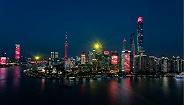 為祖國獻祝福,上海黃浦江上演光影秀