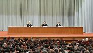 今天在沪举行的中央宣讲团报告会上,李强作学习贯彻四中全会精神宣讲