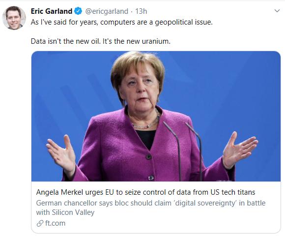 默克尔敦促欧盟从美科技巨头手中夺回数字主权图3