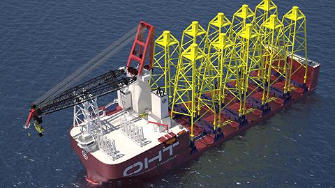 工业之美 全球第一艘半潜式海上风电重吊船,可以运载施工两不误