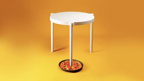 宜家和必胜客联名,把披萨盒里的小桌做成了现实版