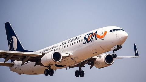 烟台机场除雪车与山航一架飞机相撞,未造成人员伤亡