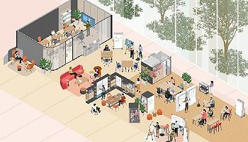 Steelcase发布未来办公空间的设计方向,将会借鉴人们居家办公的经验
