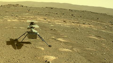 """人类航天又一突破:美国""""机智""""号火星直升机完成首飞"""