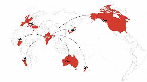 數據 | 印度變異病毒蔓延21國,15個國家、地區對其入境限制