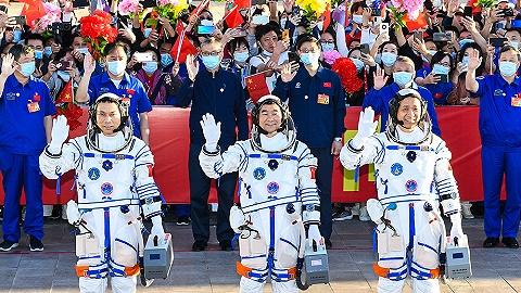 【图集】神舟十二号发射升空,三名航天员奔赴中国空间站