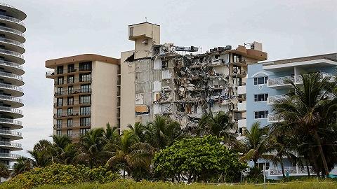 美国垮塌公寓内159人下落不明,幸存者:感觉被导弹击中