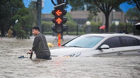 【图集】郑州遭遇历史极值暴雨:城市内涝、围墙坍塌、澳门金沙独家被淹没