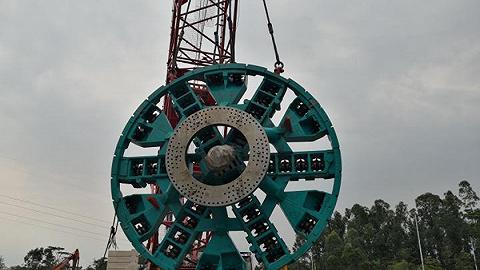 深圳轨道交通四期工程首台盾构始发
