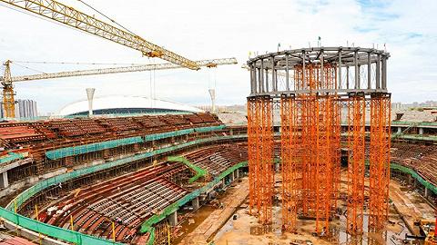 项目总进度已超50%,海口五源河体育馆预计明年12月底交付使用