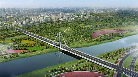 加快西咸一体化进程,咸阳高科一路跨渭河大桥开工