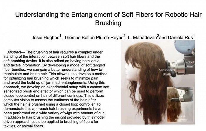 机器人也会梳头了,直发卷发都能梳,梳开打结头发不会痛