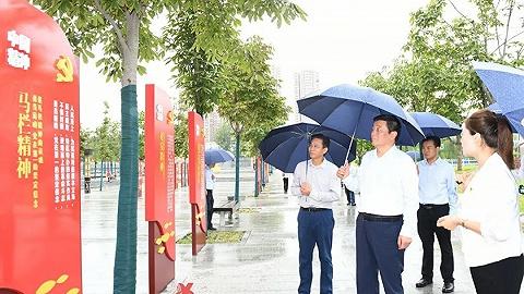 咸阳市委书记杨长亚到咸阳市区调研党史学习教育